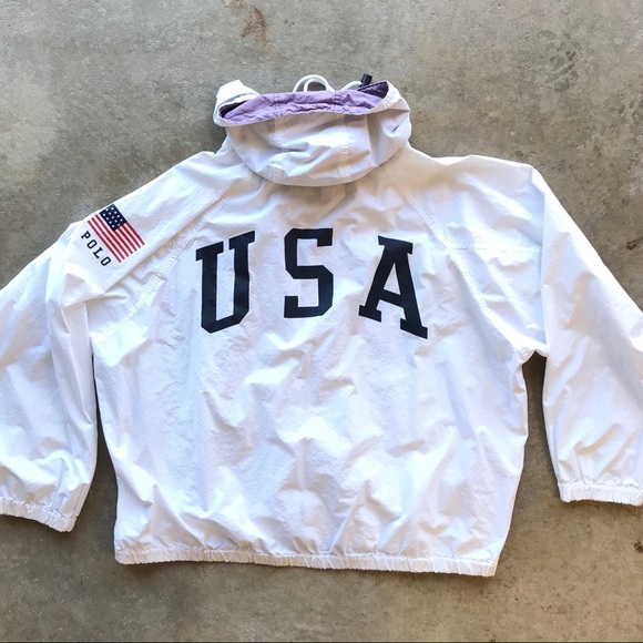 Vintage POLO SPORT Windbreaker Pullover jacket Spell Out